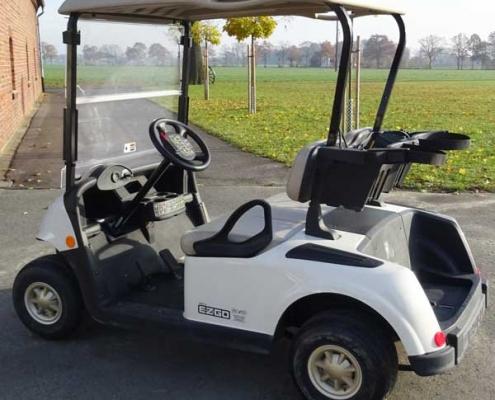 Golfcarts-gebraucht-RXV-weiss-Seitenansicht